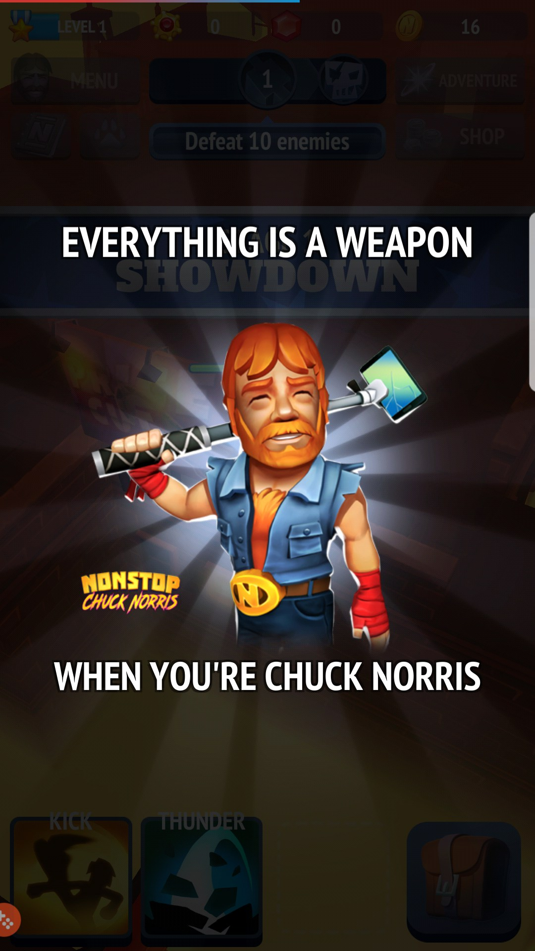 Nonstop Chuck Norris for Huawei Ideos Tablet S7 (Slim) 2018