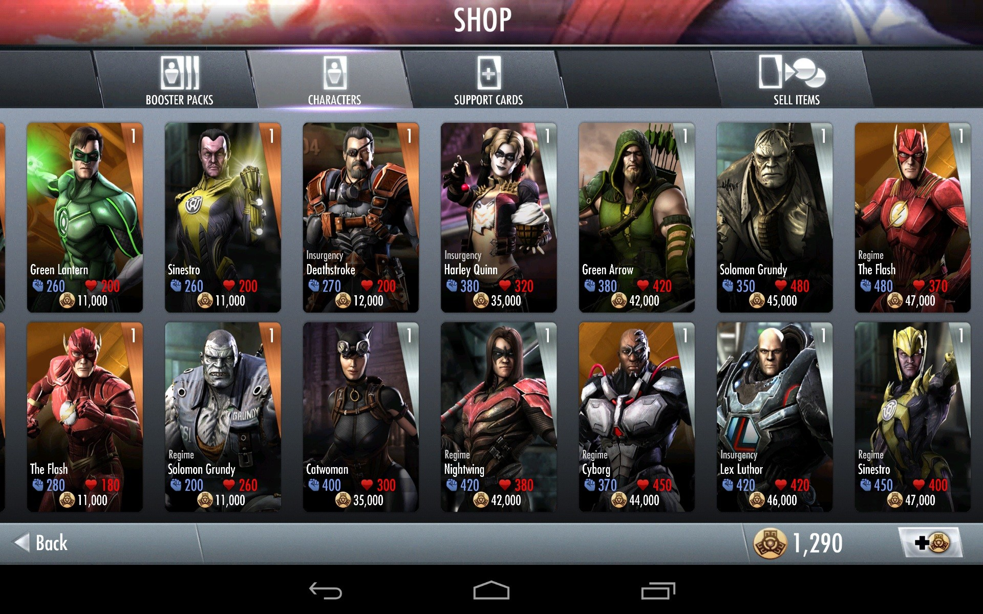 how to get red son characters injustice
