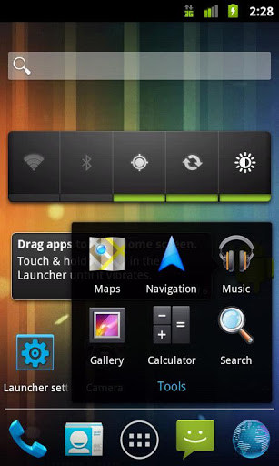 Holo Launcher for Lenovo A1000 2018 – Free download soft for