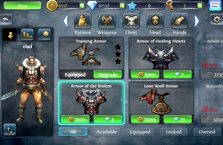 dungeon hunter 4 samsung galaxy ace
