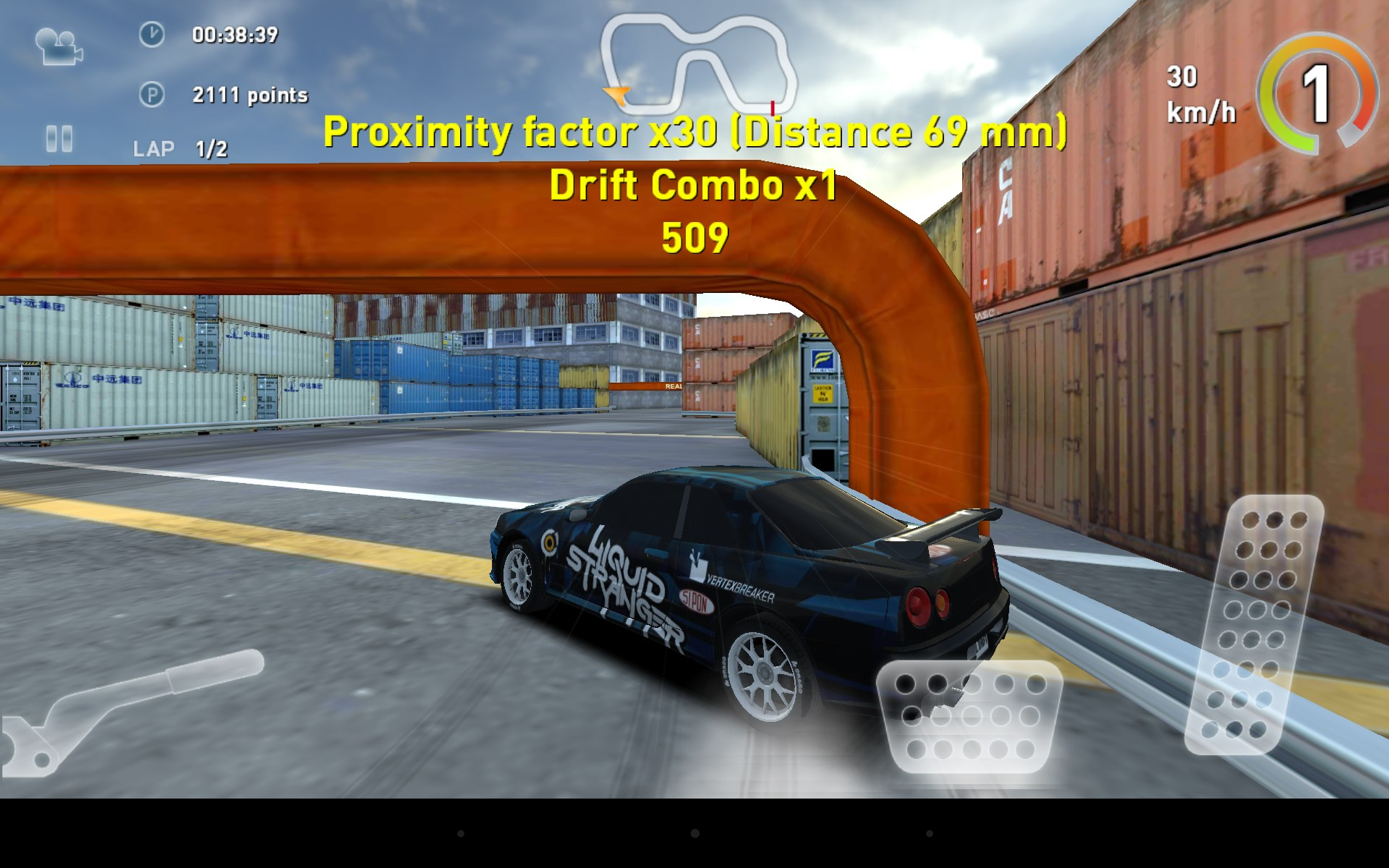 Real Drift Car Racing Free for Coby Kyros MID 8125.