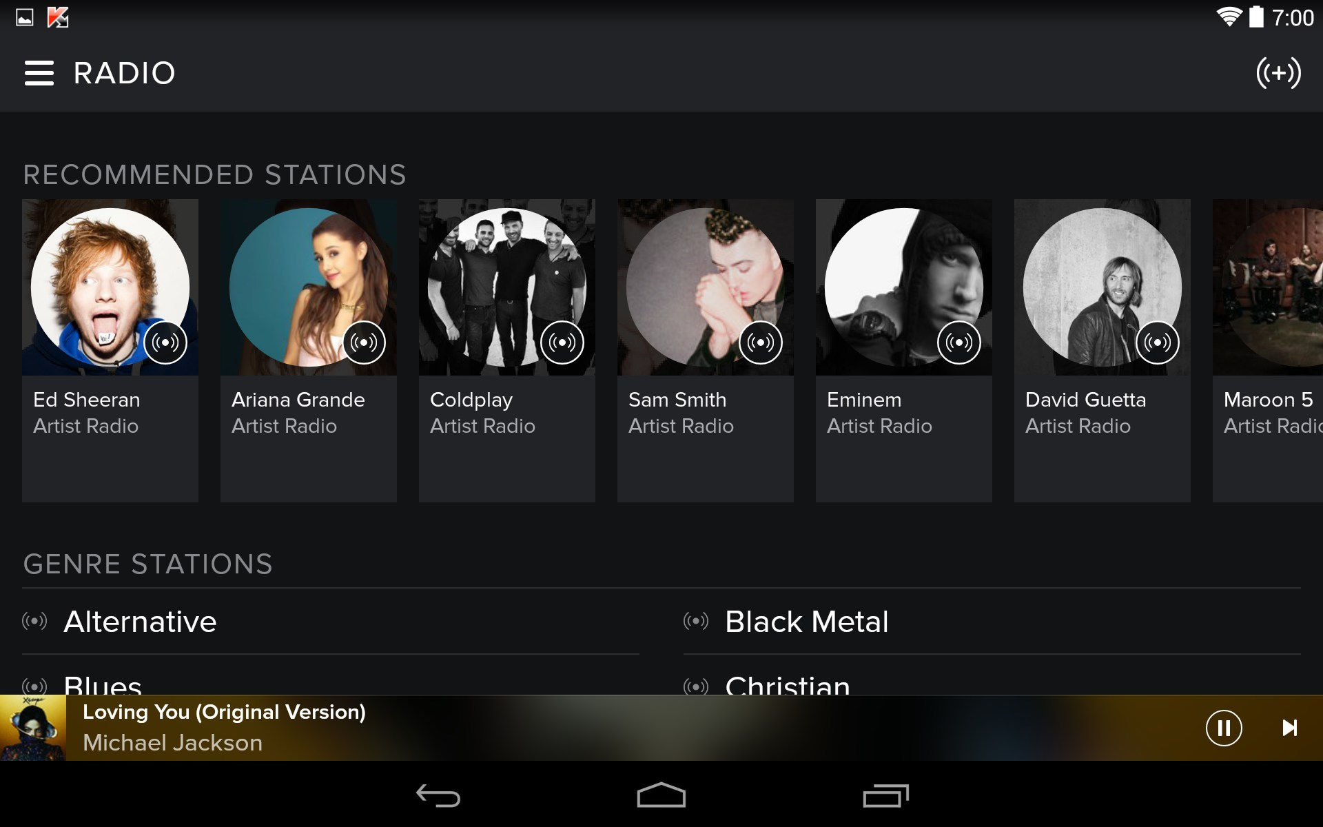 free spotify download for android tablet