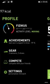 miCoach train & run