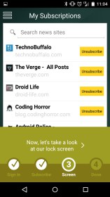 Swipe for Feedly