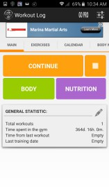GymApp Workout Log for Fitness