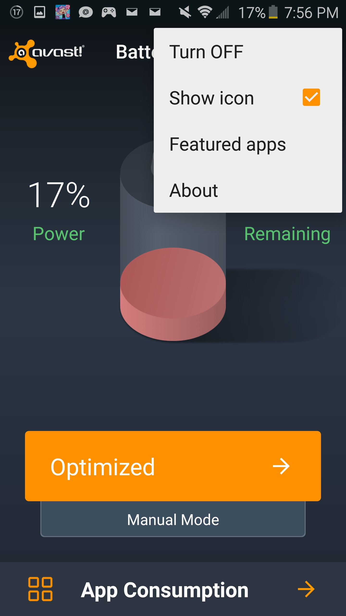Avast Battery Saver for Huawei Ascend Y511 2018 – Free