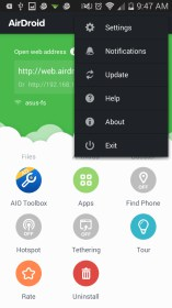 AirDroid: File & Notifications para Sony Ericsson Xperia X10 mini pro